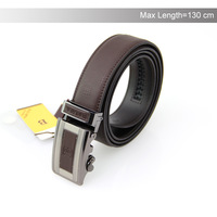 Hot sell Men genuine leather belt cowhide high locked buckle leather strap Big Size 44-52 Free Shipping YD20140529016