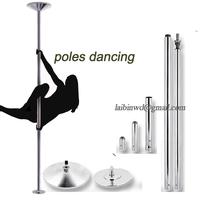 360 Professional Spinning Dance Pole adjuatbale Rotation and stirless training pole Beginner professional stripper dance pole