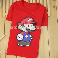 Mario shirts free shipping red top SpongeBob shirt boutique shirt top MIX STYLES