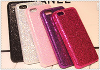 Wholesale Newest  Cell Phone Covers Shell Glitter Powder Skinning Plating Plastic Case for iphone 4G 5G 5C 10pcs/lot