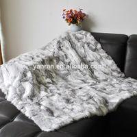 YR-519 Top Quality Genuine Rabbit Zhejiang Tongxiang Rabbit Scrap Fur Plate Blanket