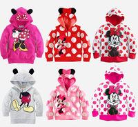 Spring Autumn Girls Minnie Mouse Hoodies Outerwear Coat, Moleton Infantil Feminino, Children Casaco Roupas, Kids Sweater.