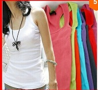 summer women's fashion summer cotton tank tops Free shipping  1B3
