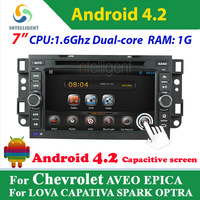 2 Din Pure Android 4.2 Car DVD player For Chevrolet AVEO EPICA LOVA CAPATIVA SPARK OPTRA with WIFI 3G GPS USB Car radio stereo