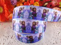 2014 new arrival 7/8'' (22mm) frozen princess printed grosgrain ribbons cartoon ribbon DIY hair bows 50 yards WQ14042523