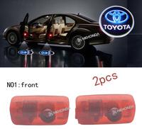 2Pcs 3D Car LED Door courtesy Shadow Projector logo Light For toyota car door light free shipping