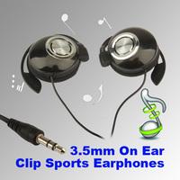 T2N2 Sport Earphone Clip On Sports Stereo Headphones Earphone For MP3 MP4 Player