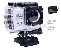 sports  Action Camera Diving Full HD 1080P DV SJ4000 Mini 30M Waterproof extreme Helmet  G-Senor Camcorder + extra 1 pcs battery