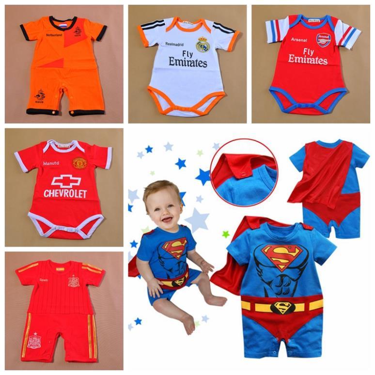 2013 nuovo arrivo babys sportive ragazzo neonati super uomo pagliaccetto abbigliamento bambino ragazzi maschi moda abbigliamento al dettaglio c003 spedizione gratuita