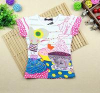 2014 Summer new girls Catimini counter with money short-sleeve T-shirt Slim models