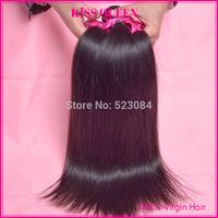 Malaysian virgin hair straight 3/4pcs lot free shipping kiss queen hair products malaysian virgin hair straight human hair weave