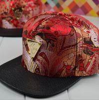 wholesale Metal Triangle mark print snapbacks caps hip hop baseball cap snapback hats for women men 2014 new M54