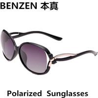 2014 New Women Polarized Sunglasses Fashion  Acetic woman Sun glasses  Driving shades UV 400 oculos with case black  1029B