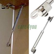 Porta 100N / 10 kg força levante suporte mobiliário gás primavera porta do armário de cozinha armário dobradiças da tampa permanece macio Open / Close E # ch(China (Mainland))