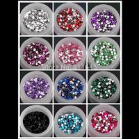 15 colors 8mm 500pcs 3D Acrylic Flatback Rhinestone ss38 Scrapbook Nail Gems for DIY decoration(15 colors you pick color)