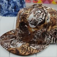 wholesale Tiger pattern print snapbacks caps hip hop baseball cap snapback hats for women men 2014 new M56