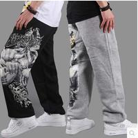 Hip hop pants Loose plus size Men short pants Sweatpants Sportwear Hip hop dance loose pants Street dance pants