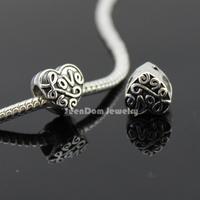 5Pcs/Lot Quality Love Beads Quality 925 Silver 4MM Hole Love Heart Beads Fits DIY European Bracelet SeenDom Jewelry