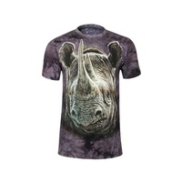 3D T-shirt Men Rhinoceros Printed Tshirt camisetas masculinas extended t shirt graphic tee casual t shirt Men's Clothing