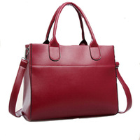 European casual style women handbag large simple brand new lady tote black blue red colors messenger bags promotion