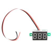 T2N2 Portable Digital Voltmeter DC0-100V Red Light LED Panel Voltage Meter