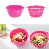 Wash rice fashion creative gift basket fruit basket basket basket tray vegetables basin drain basket Plastic Trays home