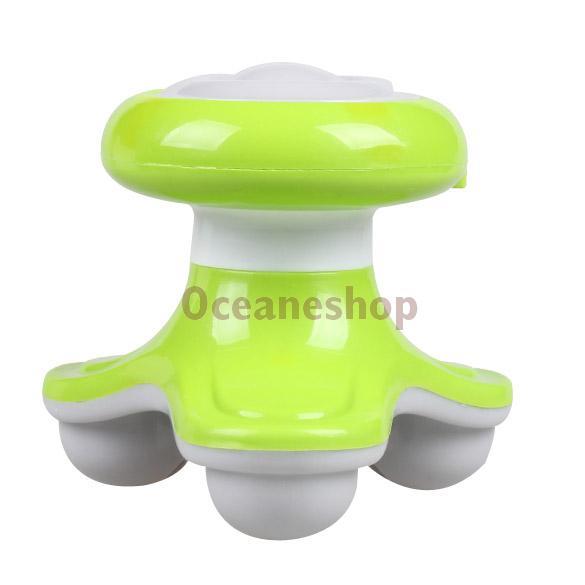 Mini USB Electric Handled Wave Vibrating Massager Full Body Massage Green(China (Mainland))