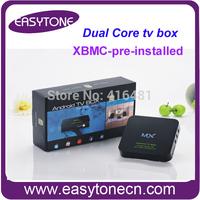 Free shipping Google Smart media player AML8726-MX dual core Android TV Box RAM 1GB ROM 8GB wifi HD tv box xbmc pre-installed