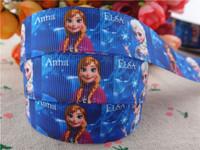 2014 new arrival 7/8'' (22mm) frozen princess printed grosgrain ribbons anna elsa ribbon wholesale 50 yards A2811