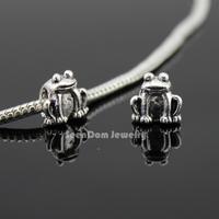 5Pcs/Lot Frog Quality Beads 925 Silver 4MM Hole Toad Beads Fits DIY European Bracelet SeenDom Jewelry