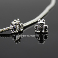 5Pcs/Lot Frog Quality Beads 925 Silver 4MM Hole Toad Beads Fits DIY European Bracelet SeenDom Jewelry