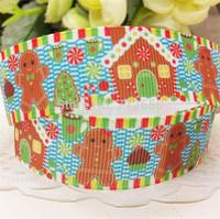 free shipping 7/8'' 22mm Christmas series printed grosgrain ribbon accessory Bow Material Gift Wrap ribbon10 yards