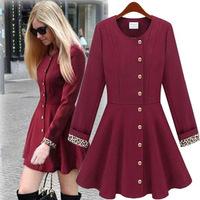 women coat autumn winter women 2014 Fashion Style Women trench cotton coat Slim Fit  Leisure Lady Jacket  A818 free shipping