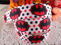 "2014 new arrival 7/8"" (22mm) logo batman printed grosgrain ribbon cartoon ribbons cloth tape 50 yards WQWQ14040907"