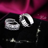 60% off Wholesale 925 Silver Girls Crystal Earring Men Jewelry Woman Accessories 2014 Christmas Gift Stud Earrings Ulove Y043