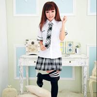 2014 New Brand School Girl Uniform Women Dress Costumne/Fashion Plaid Printed Costume For Women/Cute Women Cosplay Costume