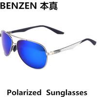Men Polarized Sunglasses Driver Driving Sun Glasses Aviator Blue Mirror Eyewear  With Case Black 9045
