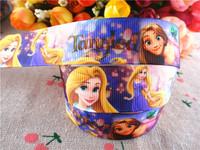 "2014 new 7/8"" (22mm) princess Rapunzel printed grosgrain ribbon cartoon tangled ribbons hair accessories 50 yards wq14030314"