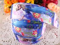 "2014 new arrival 1"" (25mm) frozen princess elsa printed grosgrain ribbon cartoon ribbons cloth tape 50 yards WQ2014040411"