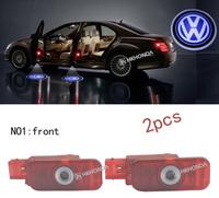 2Pcs 3D Car LED Door courtesy Shadow Projector logo Light For Volkswagen Phaeton free shipping