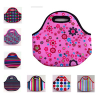 lancheira thermo thermal insulated neoprene lunch bag for women kids food bag tote with zipper cooler lunch box insulation bag