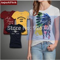 Summer New 2014 Women's T Shirt Short Sleeve Cotton T-shirts Fashion Brand logo Causal Slim Tshirt Women
