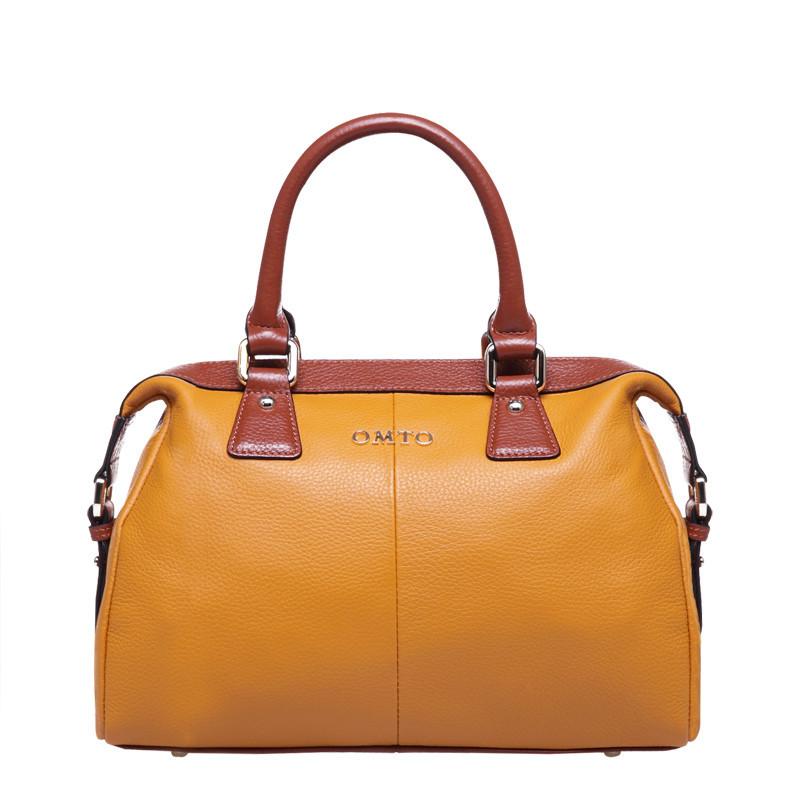 Women's Handbag Fashion Vintage Crocodile Pattern Cowhide Genuine Leat