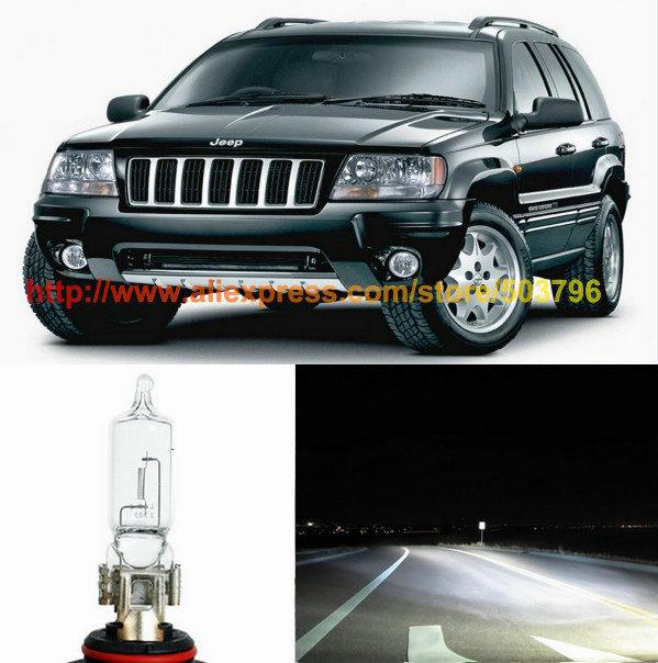 Free Shipping 2Pcs/Lot Superbright Led 60w 12v Car Halogen High Beam Headlight For Jeep Grand Cherokee 1999-2004(China (Mainland))