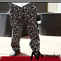 2014 New High Quality Thick Chef Pant  Black TablewareTighten Long Unisex Size Kitchener Trousers