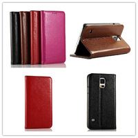 S5 Genuine Leather Case For SAMSUNG GALAXY S5 i9600 Leather Cover Case , 4Color