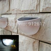 10pcs/Lot Outdoor Solar Powered 6 LED Light Fence Roof Gutter Garden Wall Lamp  wholesale