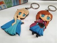 Free shipping 20pcs/lot Frozen Key Chains,Soft Rubber Cartoon Olaf Elsa Anna Keychain/pendant