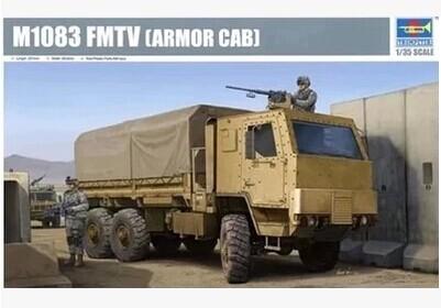 Trumpeter model 01008 1/35 M1083 FMTV Armor Cab plastic model kit Assembled model Truck(China (Mainland))