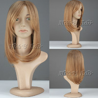 50cm long straight synthetic wigs European fashion style women wigs party wigs